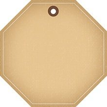 Octagon brown tag