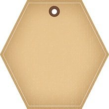Hexagon brown tag