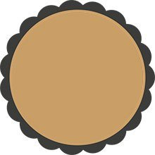 Black and brown round sticker