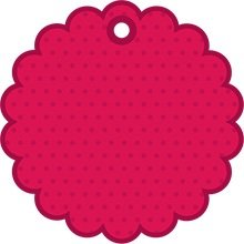 Pink round tag