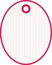 Pink and white Oval tag