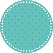 Blue dotted rounded sticker