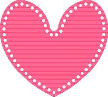 Pink dotted heart sticker