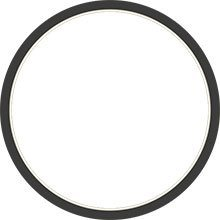 Black and white round frame